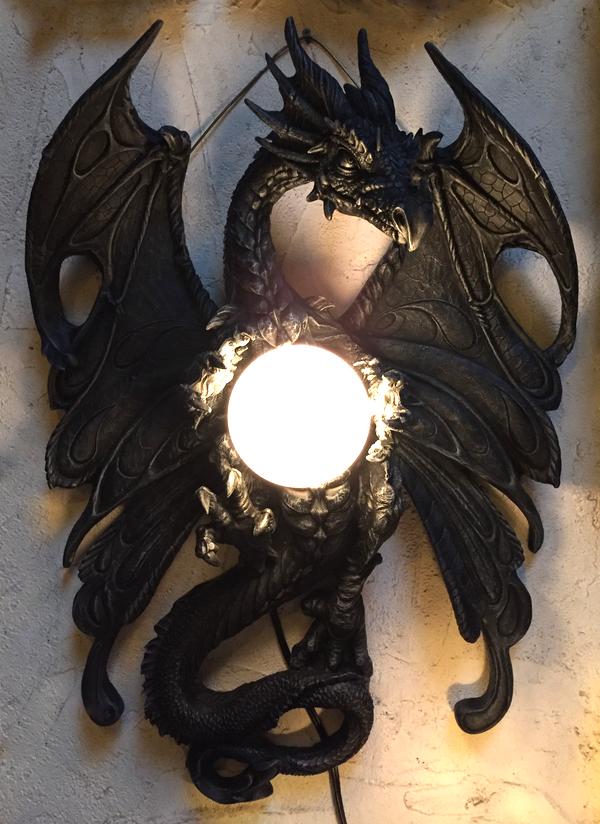 check out 20dd4 3f12e Dragon Wall Lamp