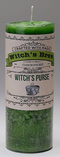 Witch's Brew Witch's Purse Candle
