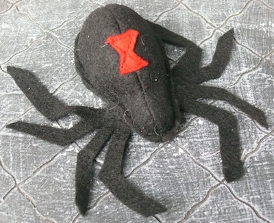 Black Widow Catnip Toy
