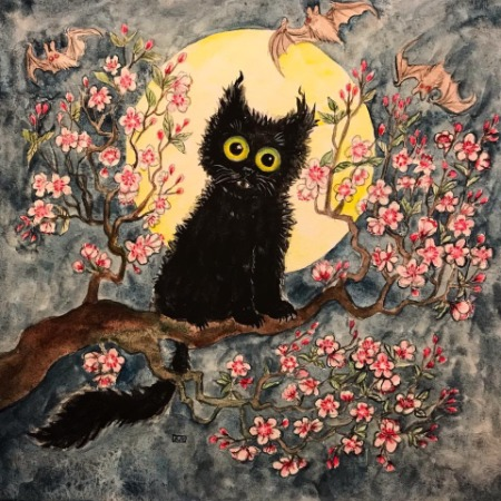 Jo Estey - Moon Blossom Neko